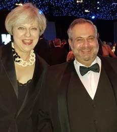 Primeira Ministra Britanica Theresa May e Marcio Fasano