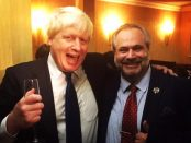 Boris Johnson and Dr Marcio Borlenghi Fasano