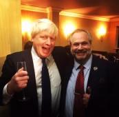 Boris Johnson and Marcio Borlenghi Fasano