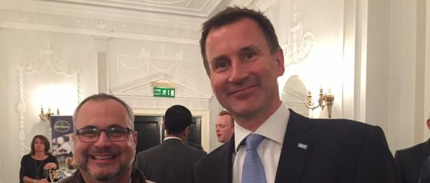 Marcio Borlenghi Fasano and Jeremy Hunt