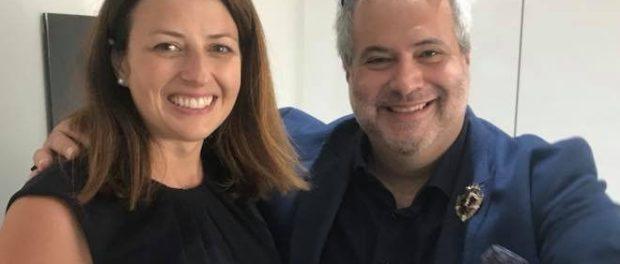 Marcio Fasano e Joy Morrissey