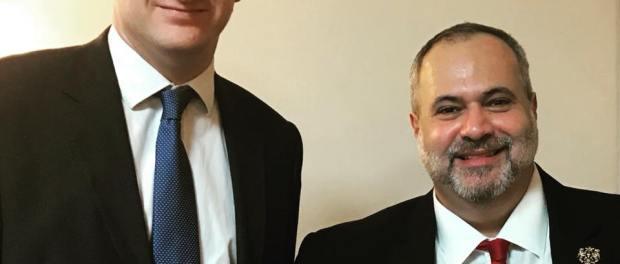 Marcio Fasano and Matthew Scott, Police & Crime commissioner for Kent