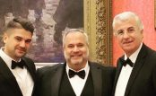 Marcio Borlenghi Fasano, Enio Qirjo and HE Mr. Qirjako Qirko, Ambassador Extraordinary and Plenipotentiary of the Republic of Albania to the Court of Saint James's