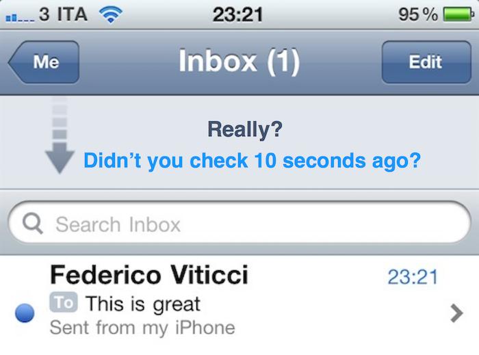 Com que frequência você verifica seu e-mail por dia?