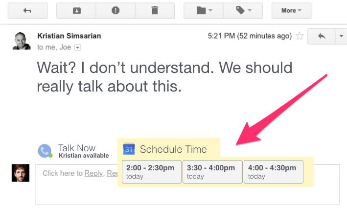 """Todas as interfaces do usuário são menus. E se o seu cliente de e-mail lhe desse opções de maneiras de responder, em vez de """"que mensagem você quer digitar de volta?"""" (Design by Tristan Harris)"""