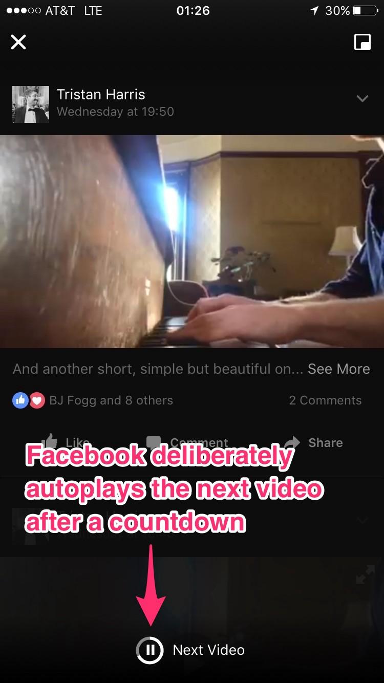 O YouTube reproduz o próximo vídeo depois de uma contagem regressiva