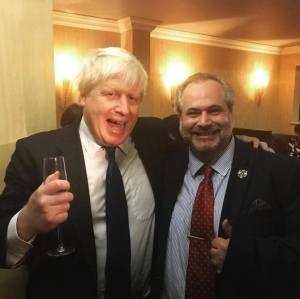 Marcio Borlenghi Fasano e Boris Johnson
