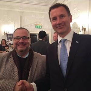 Marcio Borlenghi Fasano e Jeremy Hunt