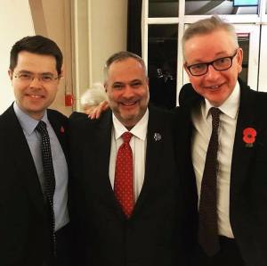 James Brokenshire, Marcio Borlenghi Fasano e Michael Gove