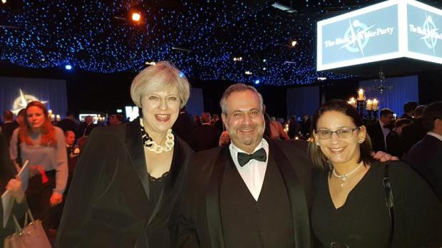 Theresa May, Marcio Borlenghi Fasano & Sra.