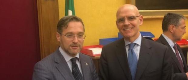 On. Simone Bille e Ambasciatore Raffaele Trombetta